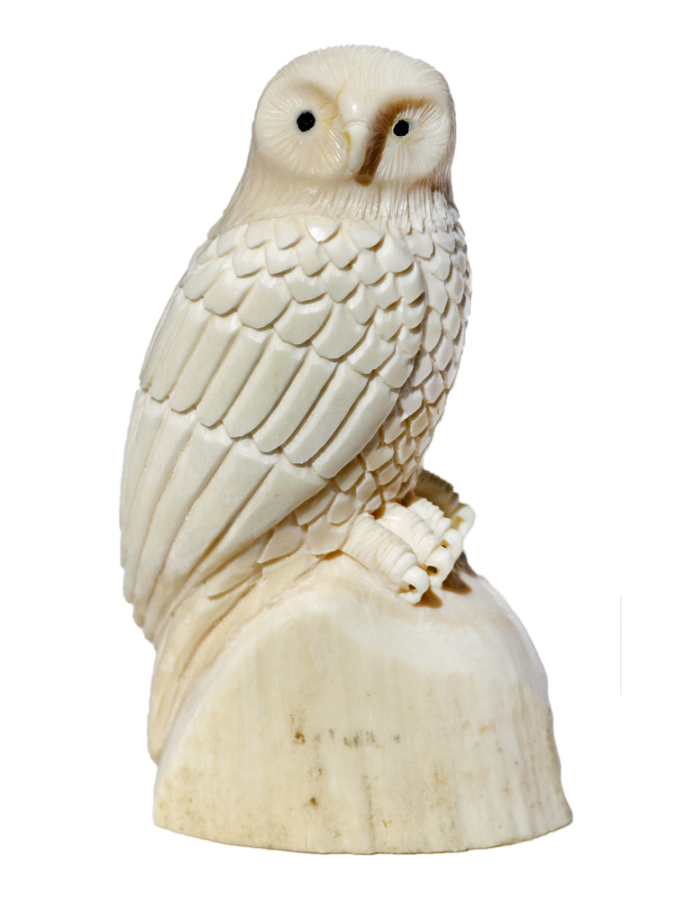 Owl Ivory Carving