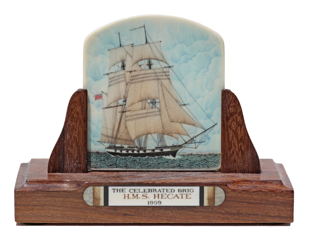 Joel Cowan Scrimshaw - The Celebrated Brig: H.M.S. Hectate 1809