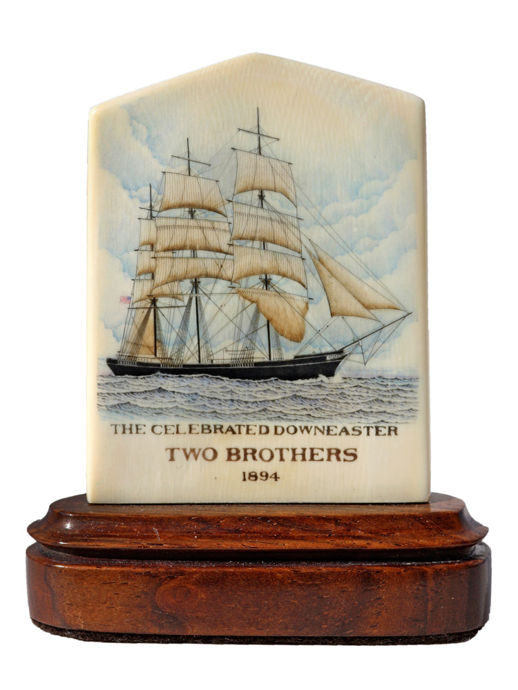 Joel Cowan Scrimshaw - The Celebrated Downeaster: Two Brothers 1894