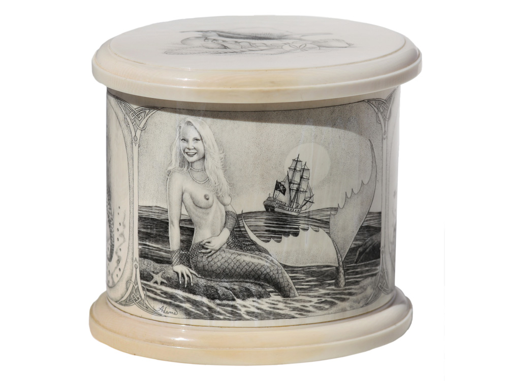 David Adams Scrimshaw - Mermaid Collection Box