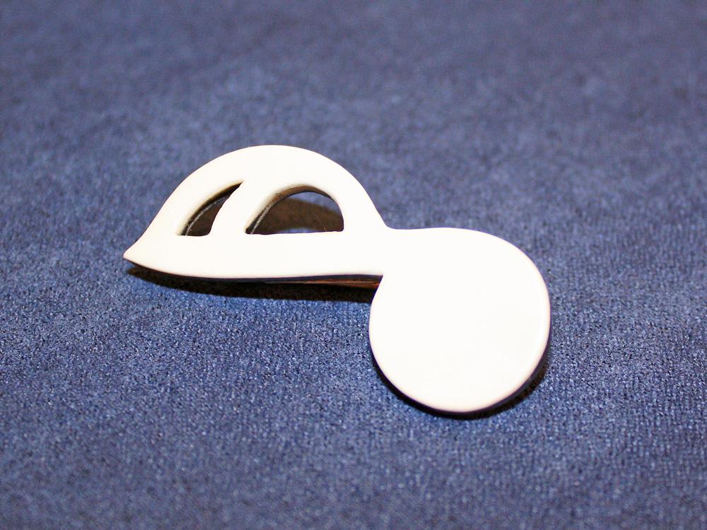 Jay Jackson - Sixteenth Note Ivory Pin (Style 1)