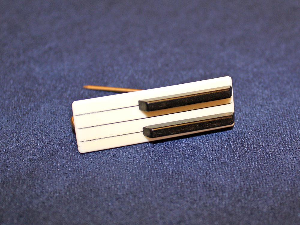 Jay Jackson - Piano Keyboard Ivory Pin