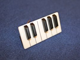 Jay Jackson - Piano Keyboard Ivory Pin