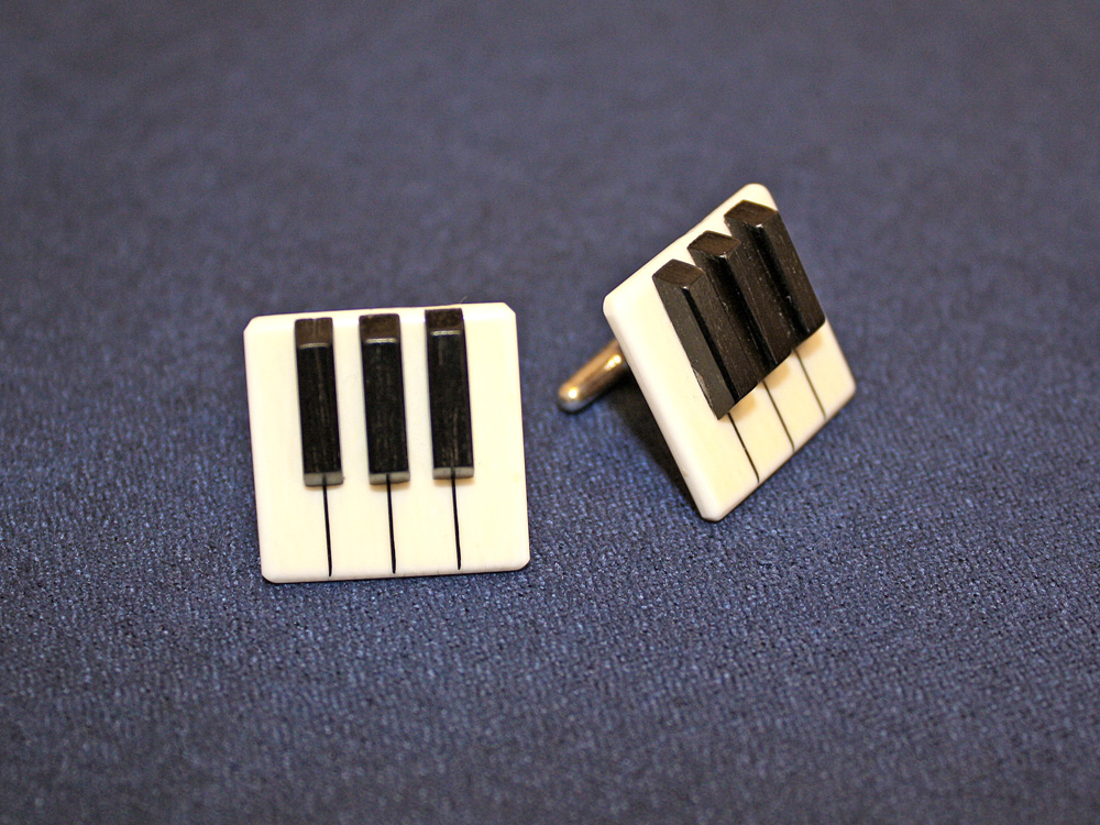 Jay Jackson - Piano Keyboard Ivory Cufflinks