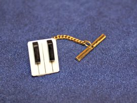 Jay Jackson - Piano Keyboard Ivory Tie Pin
