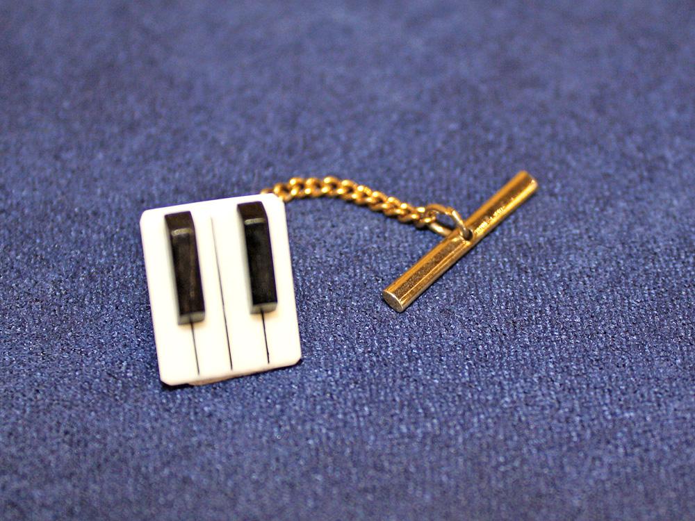 Jay Jackson - Piano Keyboard Ivory Tie Pin