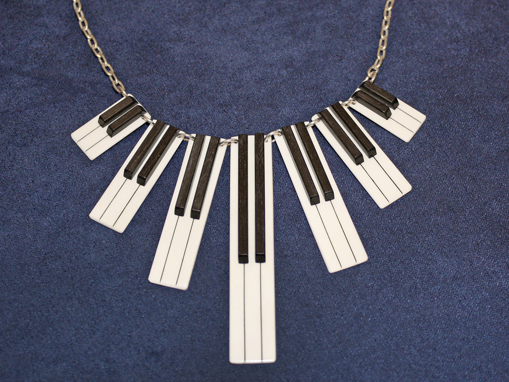 Jay Jackson - Piano Keyboard Ivory Necklace