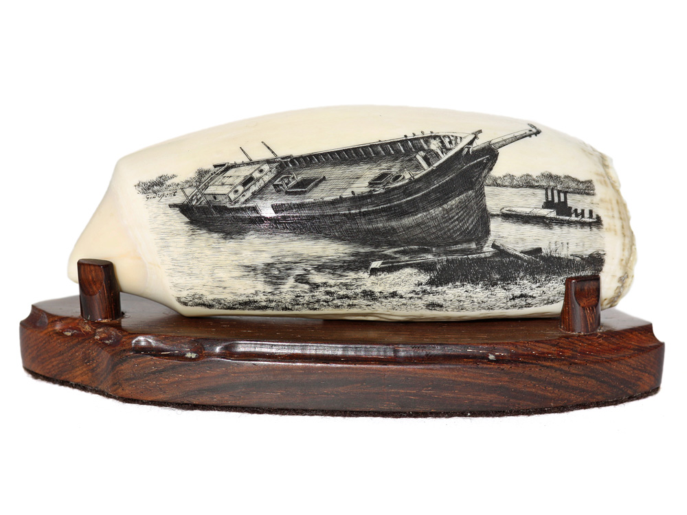 Gerry Dupont Scrimshaw - End of the Voyage