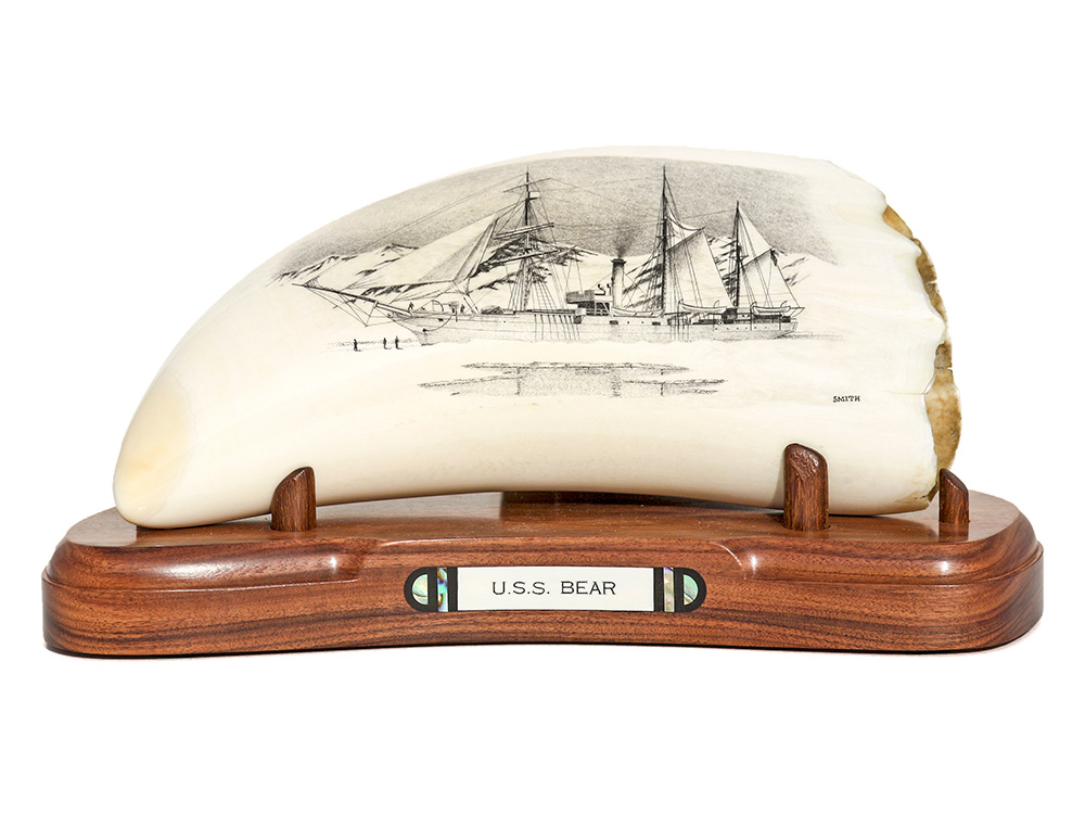 David Smith Scrimshaw - U.S.S. Bear