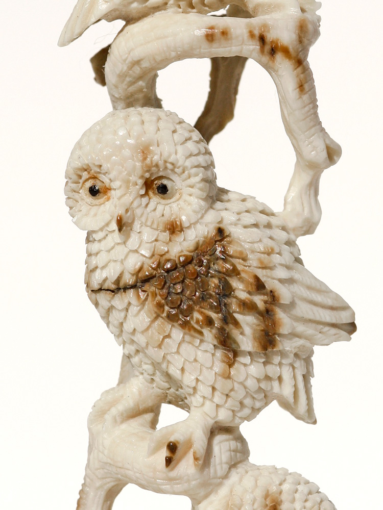 - Owl Stack Ivory Carving