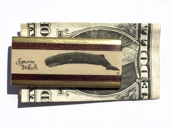 Scrimshaw Money Clip - Sperm Whale