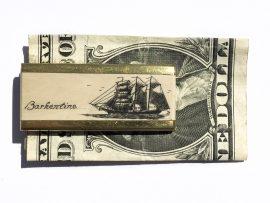 Scrimshaw Money Clip - Barkentine