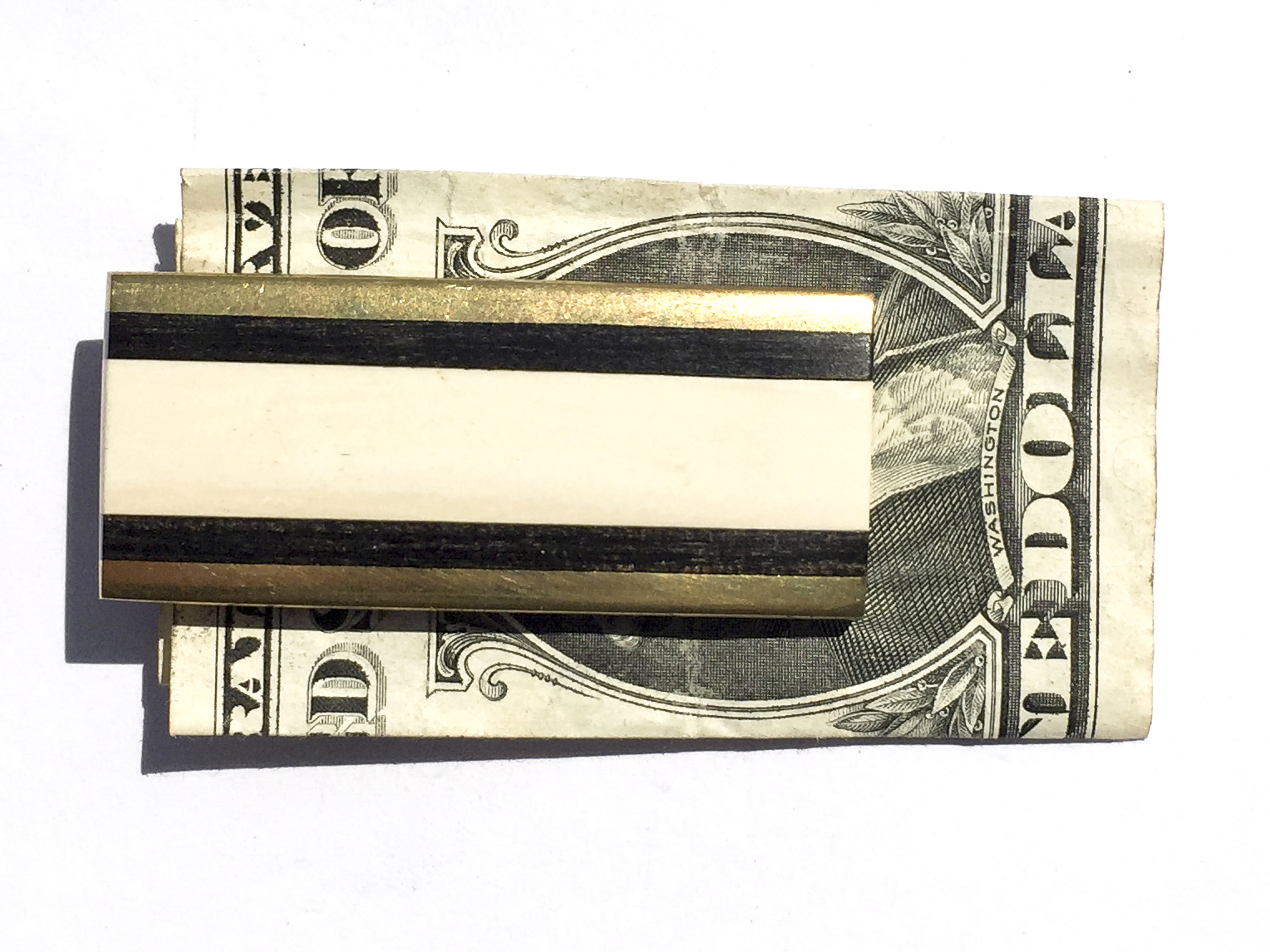 Mammoth Ivory Money Clip - Ebony Wood