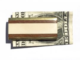 Mammoth Ivory Money Clip - Cocobolo Wood