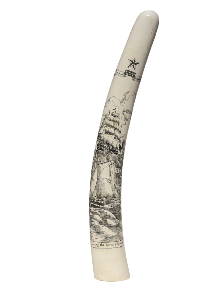 David Pudelwitts Scrimshaw - Chasing the Barbary Pirates