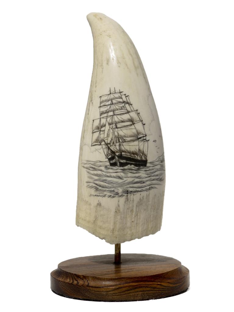 S.J. Wainwright Scrimshaw - Scrimshaw Ship