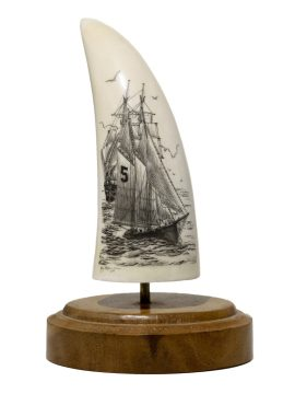 Ray Peters Scrimshaw - Pilot Boat #5