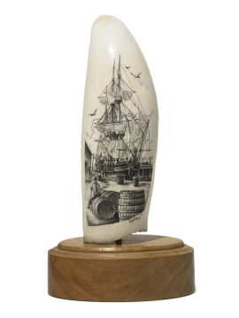 Ray Peters Scrimshaw - Outfitting a Whaler