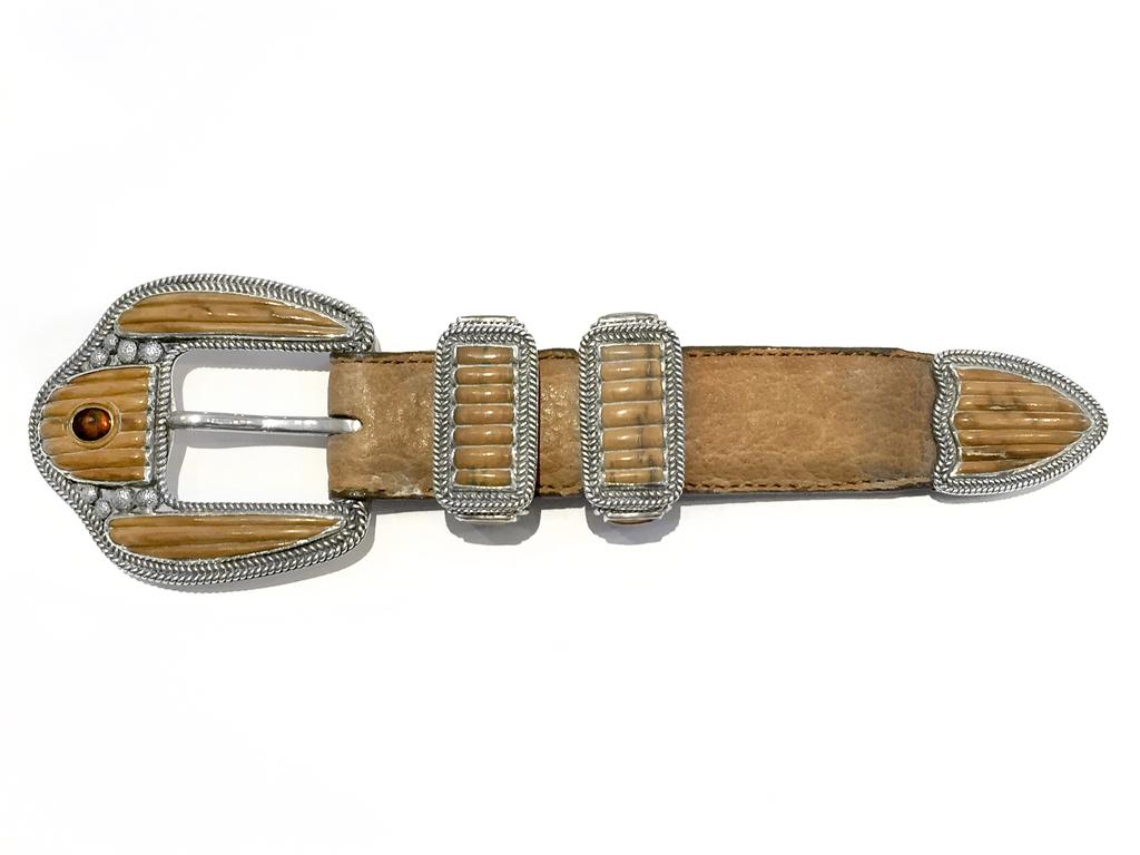 "Custom Mammoth ""Ranger"" Belt Buckle Set"