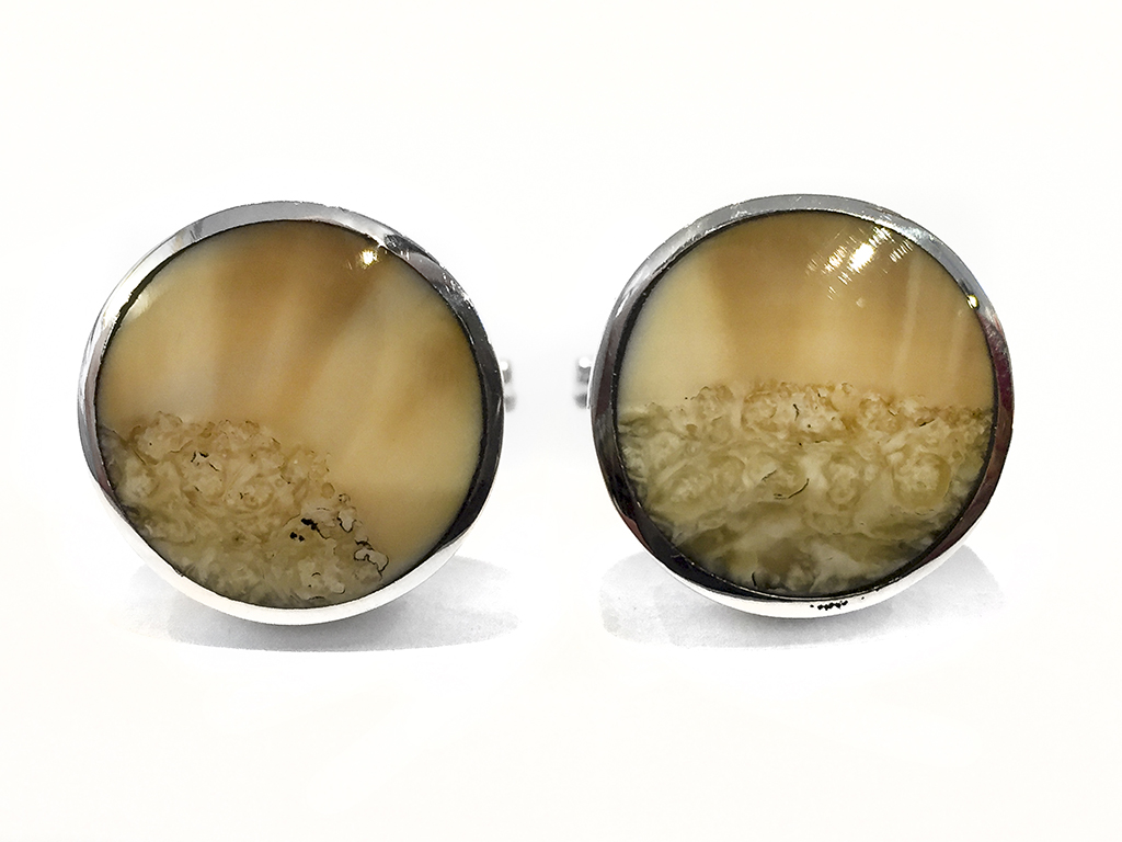 Ancient Walrus Tusk Ivory Cufflinks