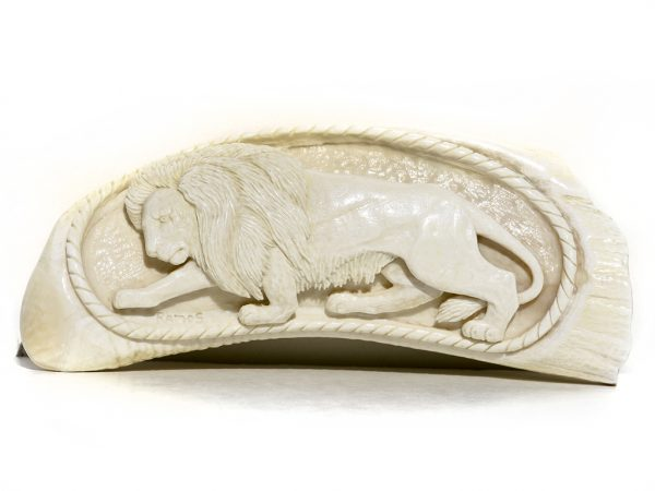 Armando Ramos Whale's Tooth Carving - Lion