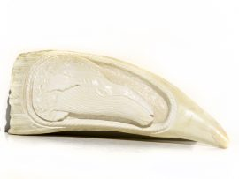 Armando Ramos Whale's Tooth Carving - Humpback Whale