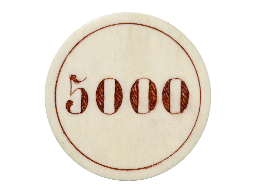 Red 5000 Ivory Poker Chip