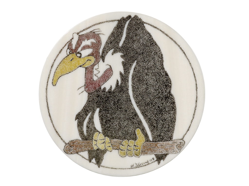 Howard Thomas Scrimshaw - Patience, Heck! Ivory Poker Chip