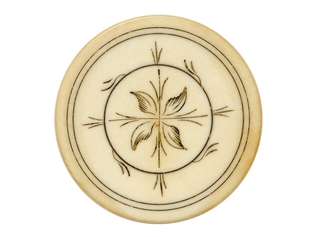 Four Leaf Ivory Poker Chip