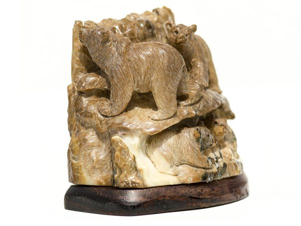 Mammoth Ivory Carving - Bears