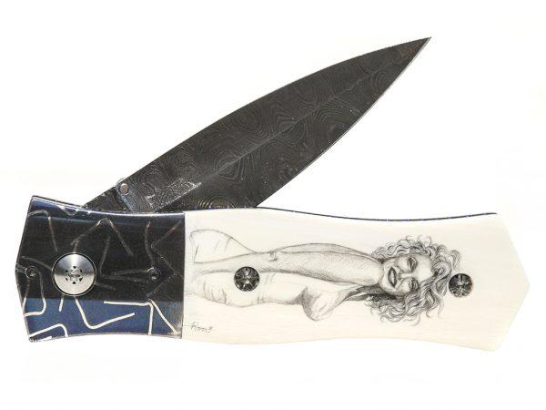 Beautiful Blonde Scrimshaw Knife