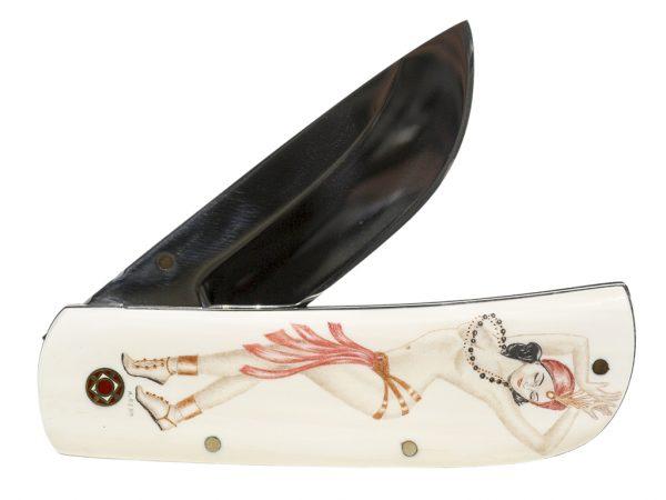 Karen Reno - Exotic Dancer Scrimshaw Knife