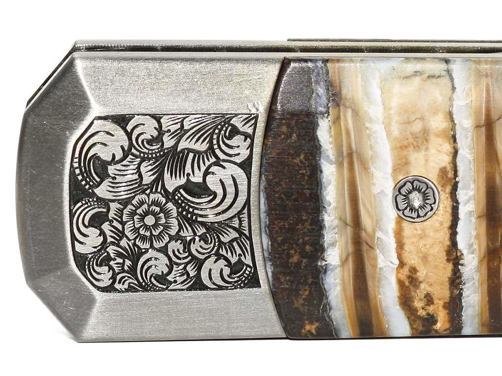ProTech Automatic Knife - Godson 910 Custom - Scrimshaw Collector
