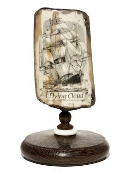Jim Pauls Scrimshaw - Flying Cloud Clipper Ship