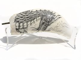 David Pudelwitts Scrimshaw - Awesome Dragon