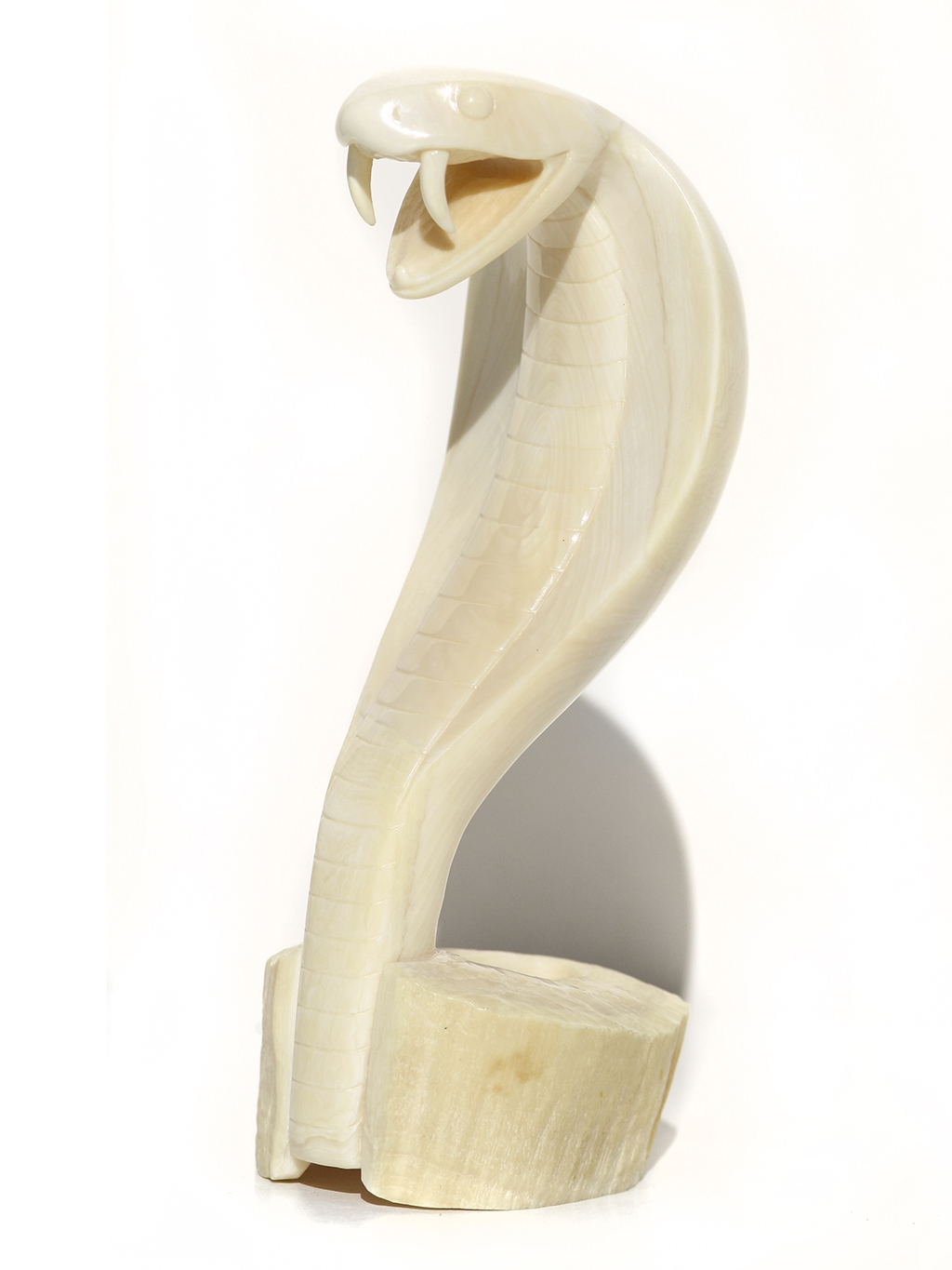 Armando Ramos Whale Tooth Carving - Deadly Cobra