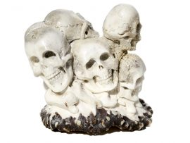 Unknown Artist - Antler Carving Happy Skull Family