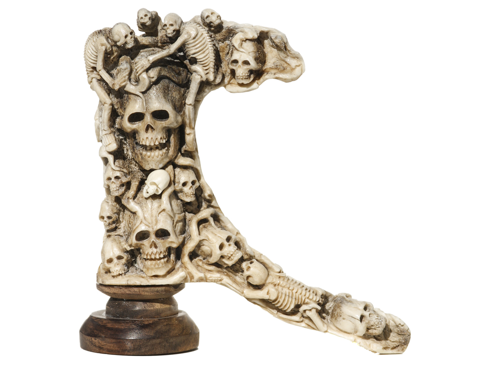Unknown Artist - Antler Carving - Tree of Skulls