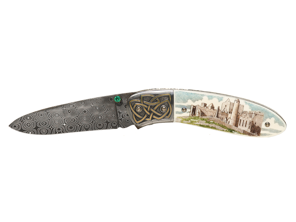 Garbo Scrimshaw - Scrimshaw Knife Irish Castle