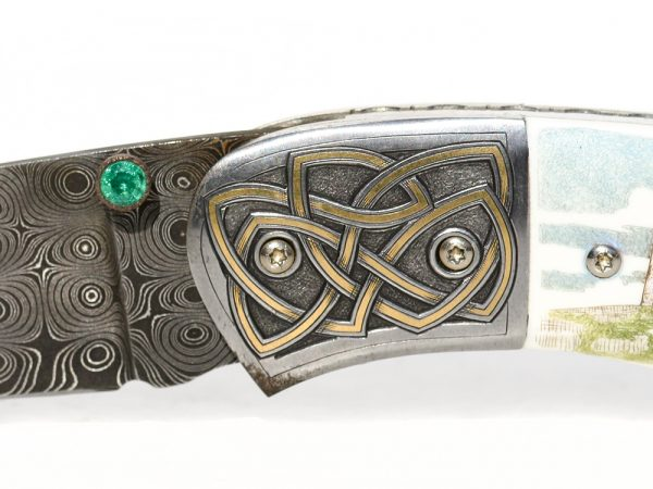 Garbo Scrimshaw - Scrimshaw Knife Irish Castle