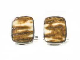 Ancient Mammoth Tusk Ivory Cufflinks