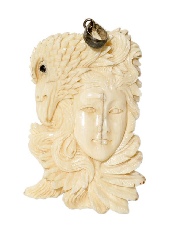 Unknown Artist - Mammoth Ivory Carving-Eagle Goddess