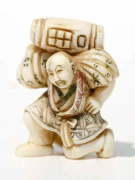 Unknown Artist - Man With Water Jug Netsuke