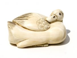 Unknown Artist - Ivory Duck Netsuke