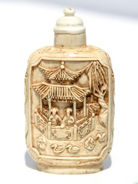 Unknown Carver - Antique Ivory Snuff Bottle