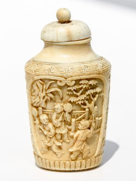 Unknown Carver - Vintage Ivory Snuff Bottle