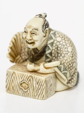 Unknown Carver - Man with Pipe Netsuke