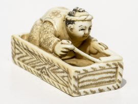 Unknown Carver - Mason Working Netsuke