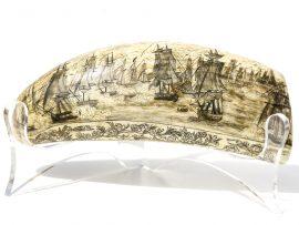 Unknown Artist - 'Battle of Lake Erie Scrimshaw' - Scrimshaw Collector