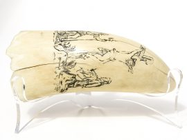 Unknown Scrimshaw Artist - Christ on the Cross - Scrimshaw Collector